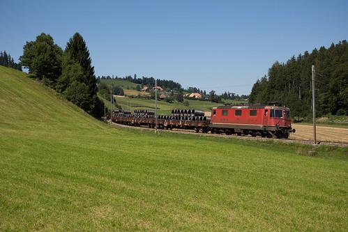 SBB Cargo Re 420 bei Gammenthal auf der Emmentalbahn
