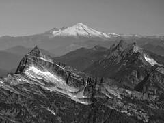 Cascade Trio (otterdrivernw) Tags: monochrome xf18135 xf18135mm xt2 fujixt2 fujifilmx fujifilm fuji aerialphotography aerials aerialphotos bw blackwhite blackandwhite sloanpeak mtpugh mtbaker cascaderange cascademountains cascades mountains mountain