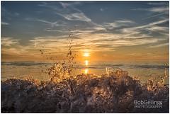 Splash (Bob Geilings) Tags: splash beach breakingwave clouds evening fun golden happy langevelderslag sea splattering summer sun sunset water wave wet