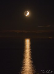 English Bay moon-set (1 of 1) (DavidGuscottPhotography) Tags: moonset vancouver smoky englishbay westvancouver