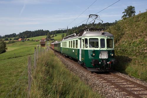 BLS Be 4/4 Wellensittich bei Griesbach auf der Emmentalbahn