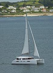 Catamaran (Cornishcarolin. Just moved house!! BUSY!!! xxxxxx) Tags: cornwall falmouth riverfalestuary boats catamaran yachts stmawes