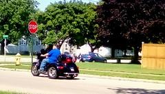 Large motorized tricycle!! (Maenette1) Tags: motorized tricycle black man neighborhood menominee uppermichigan flicker365