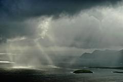 Achill, Co. Mayo. (Mark Waldron) Tags: achill mayo ireland keem sky sunlight shafts sea atlantic ocean wildatlanticway minaun mountain sony a7 jupiter9 85mm f2
