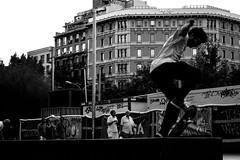 IMG_5656 (aclapes) Tags: skating skate grind universitat plaça summer skater jump action dslr canon 700d canonistas barcelona blackandwhite bnw streetphoto streetphotography 50mm18 primelense sharpness motion bench people man