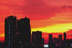 Sailers Delight (62dingos) Tags: redsky view bangkok thailand clouds cityscape lights buildings dusk asia