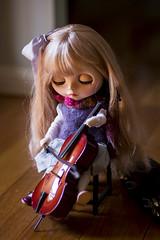 morning practice (JennWrenn) Tags: blythe doll custom sadiesprinkles morning practice cello music melody