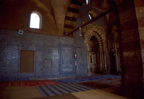 "Blue Tiles and Mirhab (Right) in the ""Blue Mosque"""