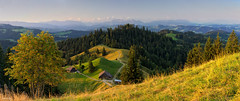 Good Morning Emmental (fotoRschaffer) Tags: switzerland emmental landscape panoramicview summer morning forest meadows bluesky sunshine swissalps mountainrange hills farmhouse alainschaffer fotorschaffer schweiz suisse svizzera svizra landschaft panorama outdoorphotography sommer morgenstimmung wald wiesen hügel blauerhimmel wolkenlos cloudless sonnenschein sonnenlicht sunlight bergkette alpen schweizeralpen bauernhof nature natur myswitzerland
