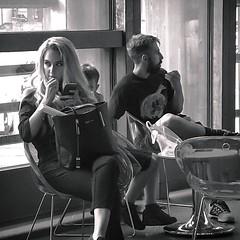 Watching You (Wayne Stiller) Tags: looking woman comiccon aylesbury