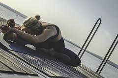 janu sirsasana (szlavid) Tags: yoga joga ashtanga asana sunrise balaton beautiful woman blond nikon d7000 nikkor 2485 summer water calm