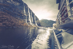 The seven sisters (wandering indian) Tags: kedardatta landscape geiranger fjord norway europe lake boattrip waterfall explore nature travel reflection pano boat ship nikon longexposure