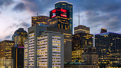 Colors and Shapes of Houston, TX pt.2 (RaulCano82) Tags: houston htx htown hou houstontx houstontexas houstonskyline skyline skyscrapers sunset cityscape city citylights buildings downtown dthtx downtownhouston dslr canon 80d raulcano texas tx bluehour lights