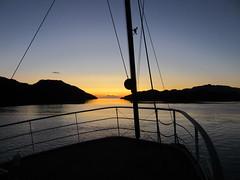 Loch Na Droma Buidhe sunset