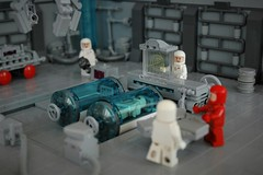 """Vitals look good, he'll be fine"" (adde51) Tags: adde51 lego moc medical bay medicalbay hangar doctor medpod classic space classicspace scifi science sciencefiction minifigure foitsop"