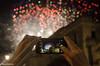 Fireworks, Matera (gavin.mccrory) Tags: lights fireworks italy matera nikon d5100 35mm nikkor summer night sparks shadow autofocus dof 18 travelling nightime light travel europe city region fire nightlight red green phone dslr