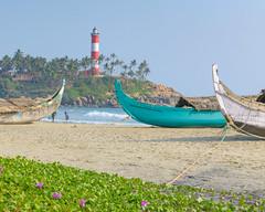 Kovalan Beach (Marcel Weichert) Tags: beach boats fisherman india indianocean kerala lighthousebeach mar ocean rope sea thiruvananthapuram trivandrum wave