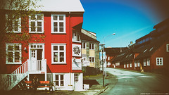 end of the line... (Anand Balaji) Tags: iceland reykjavik streetphoto nokia microsoft lumia 950 vintage street candid person man old bench sitting house red vivid