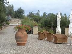 Toskana in Grün ... (tannertext) Tags: urlaub toskana toskanaingrün blumenschmuck blumenkübel mediteran