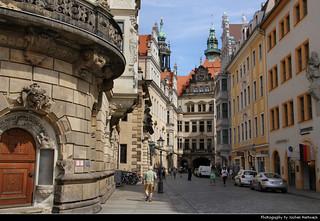 View along Schloßstraße, Dresden, Germany