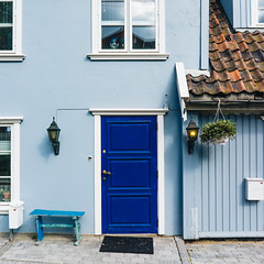Blue (borishots) Tags: blue colors door architecture facade pastel square squareformat windows sony sonya7 sonyfe28mmf2 sonyalpha 28mm oslo norway scandinavia fineart