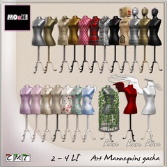 Art mannequins gacha (Dalriada Delwood) Tags: gacha mannequin deco shop store fashion clothing mooh second life sl twe12ve twelve