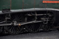 Running Gear of a Racehorse (simmonsphotography) Tags: steam locomotive engine train pacific uksteam railway railroad heritage preserved nenevalley wansford a4 gresley 60009 unionofsouthafrica lner br valvegear