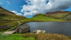 The boat house (Lee Harris Photography) Tags: boat boats boathouse cloud clouds sky nature water lake mountain hill grass outdoor summer august wales uk tranquil serene contrast g80 lumixg80 landscape landscapes snowdonia