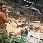 Vietnam War 1968 - Soldier Talking Into Transmitter thumbnail