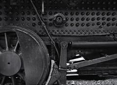 Steam train mechanics (Tim Ravenscroft) Tags: mechanics steam train monochrome blackandwhite blackwhite lowell newhampshire hasselblad hasselbladx1d x1d