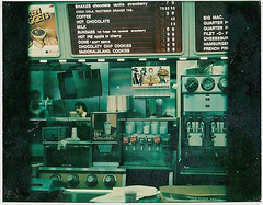 McDonald's Counter in 1977 (Brett Streutker) Tags: restaurant cafe diner eatery food hamburger cheeseburger eat fast macdonalds burger vintage colonel sanders kentucky fried chicken big mac boy french fries pizza ice cream server tip money cash out dining cafeteria court table coffee tea serving steak shake malt pork fresh served desert pie cake spoon fork plate cup drive through car stand hot dog mustard ketchup mayo bun bread counter soda jerk owner dine carry deliver