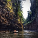Tubing on the Ausable River - Ausable Chasm thumbnail