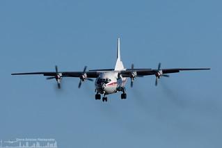 UR-CAJ Ukraine Air Alliance (UAA) Antonov An-12BK (LIS - LPPT)