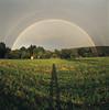 (xbacksteinx) Tags: hasselblad2000fcw 120 mediumformat analog arsenalzodiak830mmf35 fisheye 30mm expiredfilm agfaagfachromersxii rsx e6 expired slide film summer sunset rainbow rain field shadow sky mood moody