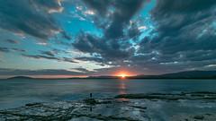 self portrait (bart.kwasnicki) Tags: portrait nsw austr land landscape ocean sunset sun clouds sky rocks
