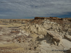 Bisti Badlands-23 (jamesclinich) Tags: bisti badlands danazin wilderness farmington newmexico nm sky clouds landscape desert rock handheld availablelight jamesclinich adobe photoshop topaz denoise detail olympus omd em10 mzuiko1240mmf28pro
