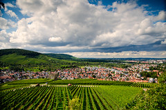 Amazing clouds (DrQ_Emilian) Tags: landscape view sky clouds town city hill vineyard light colors ruin stetten kernen remstal germany badenwürtemberg europe travel skyscape outdoors