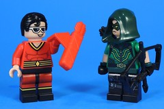 Plastic Arrows (MrKjito) Tags: lego minifig super hero comic comics green arrow plastic man dc custom