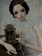 justine (dolls of milena) Tags: bjd abjd resin doll popovy sisters portrait vintage ferrotype victorian retro bluejay blue jay