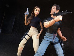 Stay Close... (MaxxieJames) Tags: total conquest vittoria belmonte claude action movie man barbie doll mattel collector made move teresa brunette film dravin