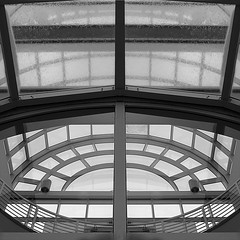 glass houses in the rain (Photomaginarium) Tags: canon powershot sx50 gimp glass glasshouses leavesofgrass whitman geometry angles transparent transparency lines architecture design rain structure skeleton thebonesofthebuilding miracle miracles milagro acrossthisantheapbyxtc everyinchofspace tometheseaisacontinualmiracle