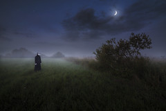 Times of Epidemics. (Night photographs from Finland) Tags: finland night stars moon plague doctor misty fog colorful mystical mood insomnium