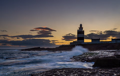 The Hook at Sunset. (Tony Brierton) Tags: 18817 cowexford hookhead lighthouse sunset countywexford ireland clouds storms sunsets sunrises