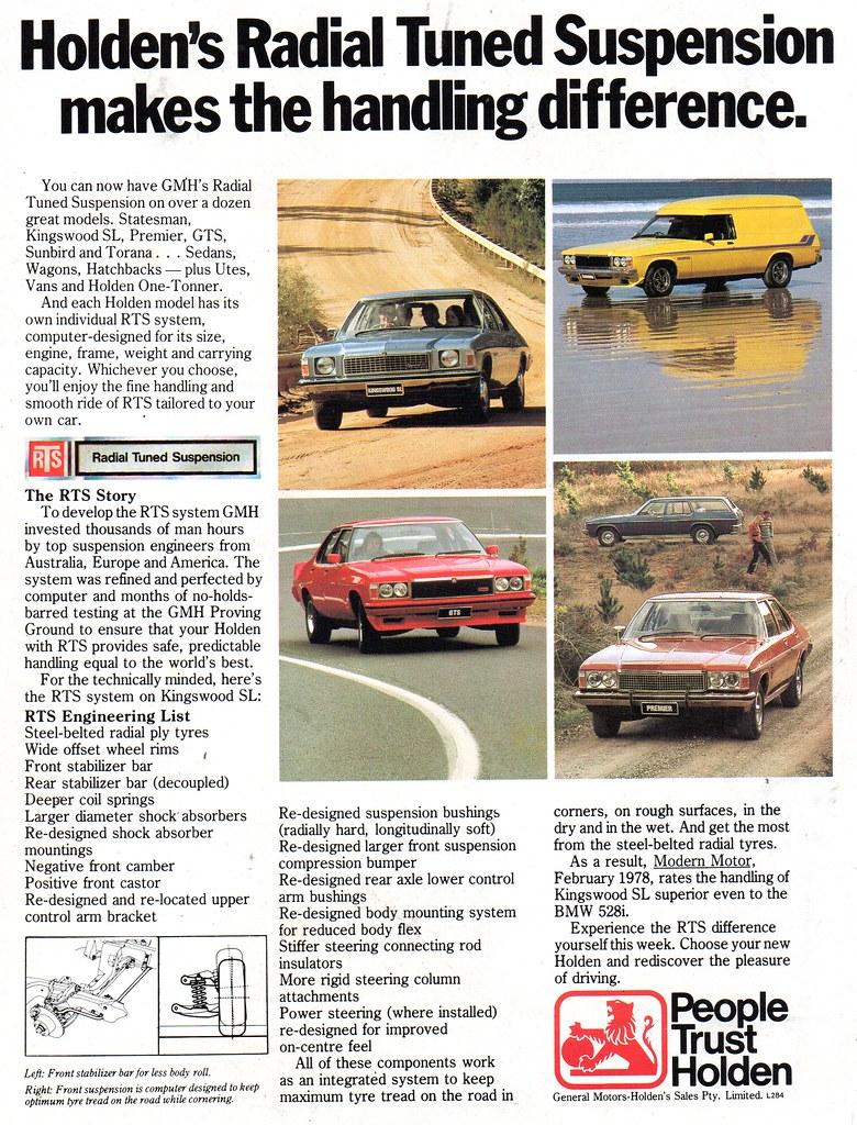 f17c4ccf45 1978 Radial Tuned Suspension RTS HZ Holden Kingswood SL Premier GTS Sandman  Panel Van Utility Ute