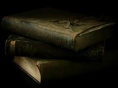 Old Books Forgotten (Clare-White) Tags: books old encyclopedia stilllife dark grainy aawchallenge t572 matchpoint winner mpt572 bestofweek1 bestofweek2 bestofweek3 bestofweek4 challengegamewinner