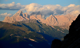 The Marmolada group in evening cloud