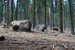 Large rocks, left here courtesy of Lassen Peak's eruption (rozoneill) Tags: lassen volcanic national park chaos crags crag lake manzanita wilderness hiking california redding