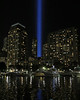 Tribute in Light from North Cove Marina (@harryshuldman) Tags: tributeinlight 911 september11 tribute batterypark battery park manhattan nyc canon 7dmarkii 50mm oculus