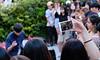 Recording Hand (Mondmann) Tags: hand phone mobilephone video videorecording recording dancers streetperformers hongdae seoul korea southkorea rok republicofkorea streetphotography mondmann fujifilmxt10 handphone