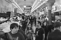 Marketplace (otterdrivernw) Tags: fujifilmxseries xf1024mm wideangle xf1024 xt2 fujix fujifilm monochrome neon market public pnw seattle pikeplace markets bw blackwhite